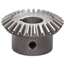 "Boston Gear HL151Y-G Bevel Gear, 1.5:1 Ratio, 0.750"" Bore, 12 Pitch, 27 Teeth, 20 Degree Pressure Angle, Straight Bevel, Keyway, Steel with Case-Hardened Teeth"
