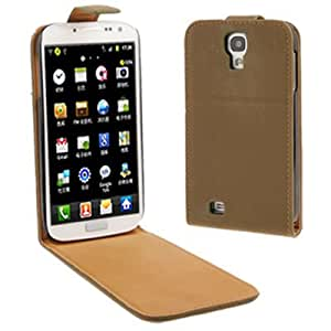 Pure Color Magnetic Vertical Flip Leather Case with Sleep / Wake-up Function & Holder for Samsung Galaxy S4 / i9500 (Ecru)