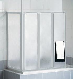 schulte d1570 badewannenfaltwand badewannenaufsatz duschwand mit seitenwand 3 tlg 1288x1400 mm. Black Bedroom Furniture Sets. Home Design Ideas