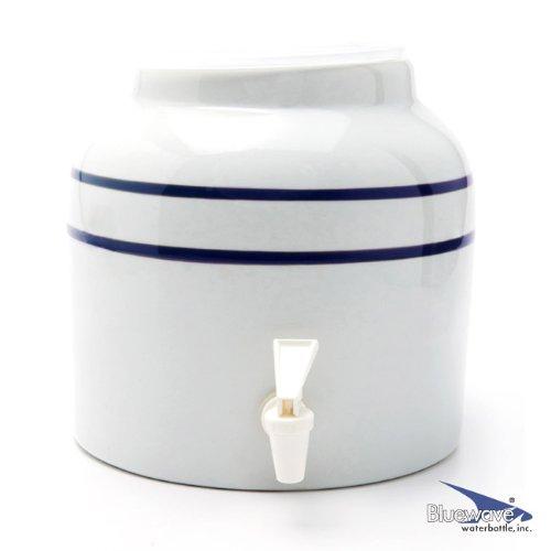 Bluewave Stripe Design Water Dispenser Crock, Blue (5gallon Crock compare prices)