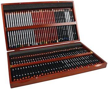 Derwent Sketching Pencils, Wooden Box, 72 Count (2301902)