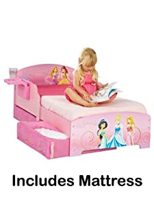 Disney Princess Toddler Bed + Shelf + Underbed Storage + Fully Sprung Mattress       reviews and more information