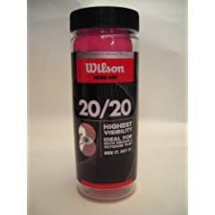 Buy Wilson 20 20 Racquetball (3 Ball Can), Pink by Wilson
