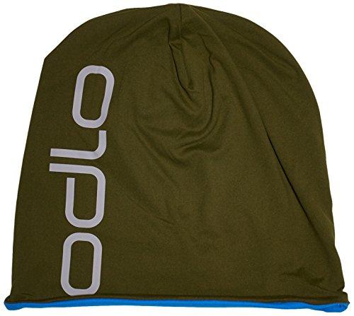 Odlo Mütze Herren Hat Reversible, Camou Green - Directoire Blue, One size, 792680