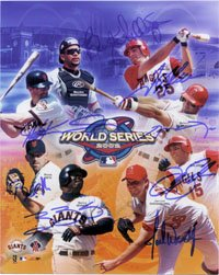 Signed Angels, Anaheim Giants, San Fransisco (2002 World Series) 8x10 By Troy Gluas,... by Powers+Collectibles
