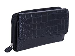 MUNDI Big Fat Wallet 333475/D178 (MATT CROCO BLACK)