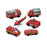 Fireman Birthday Party Fire Engine Vehicles - Loot Bag Fillers x 6
