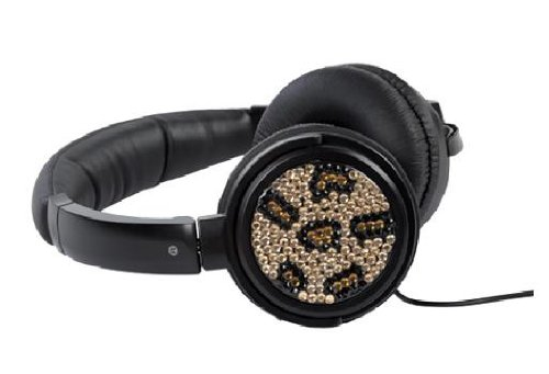 Wci Premium Folding Dj Headphones Covered In Gem Stones - Connect To Stereo System, Mixer, Ipod, Iphone, Droid, Blackberry, Mp3 Player And All 3.5Mm Audio Devices