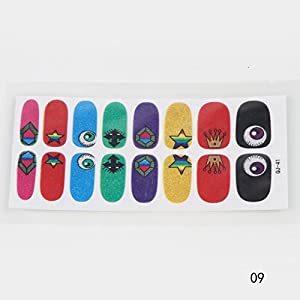 16pc Harajuku Licorne Ailes Nail Art Effects Bandes Decal Stickers Wrap