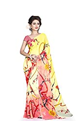 Soham Enterprise Women's Polyester Saree (Soham3_Multicolor)
