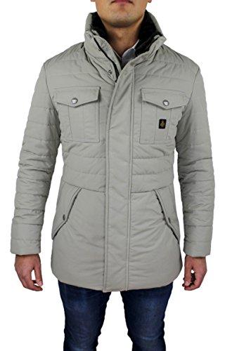 Giubbotto piumino uomo Refrigiwear art G64600 Beige Chiaro Lungo Man's Jacket (M)