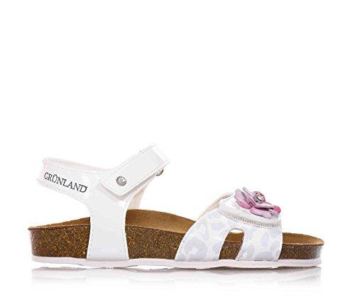 GRUNLAND - Sandalo bianco, Bianco Bambina-26