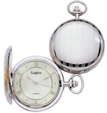 Женские карманные часы Legere BPW-828-R Silver Pocket Watch with Mother of Pearl Dial