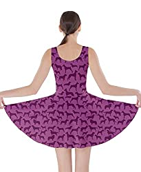 CowCow Womens Dogs Animal Patterns Double Sided Skater Dress