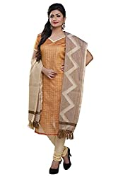 Rajnandini women's Silk Unstitched salwar suit Dress Material ( Mustard _Free Size)