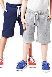 2 Pack Cotton Rich Drawstring Shorts
