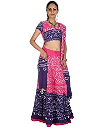 Rajrang Womens Cotton Classic Lehenga Cholis (Lhg00454 _Pink _Long)