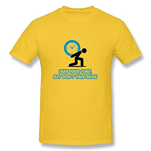 Man'S Take Time Online Tshirt Size M Color Yellow