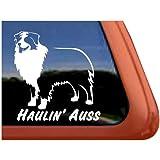 Haulin' Auss Australian Shepherd Dog Vinyl Window Decal