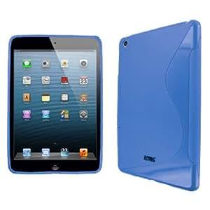 Flexible Light Blue S-Shape Poly Skin TPU Case for Apple iPad Mini
