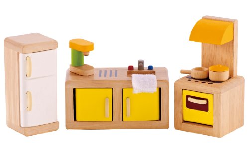 Hape - Kitchen Wooden Doll House Furniture (Doll House Kitchen Appliances compare prices)