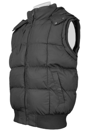 New Mens Padded Gilet / Body Warmer, Style SK-911, In Black, Size Small