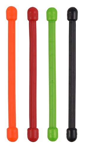 Nite Ize Reusable Gear Tie, 3-Inch Rubber Twist Tie, Assorted Colors (Pack of 4) (Headphone Cord Ties compare prices)