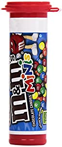 M&M's Milk Chocolate Minis Candy, 1.08-Ounce Tubes (Pack of 24)