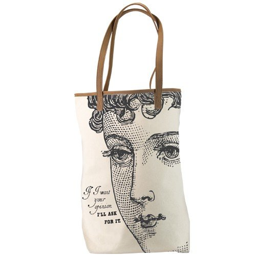 Santa Barbara Design Studio JKC Victorian-Styled Canvas Tote, If I Want Your Opinion