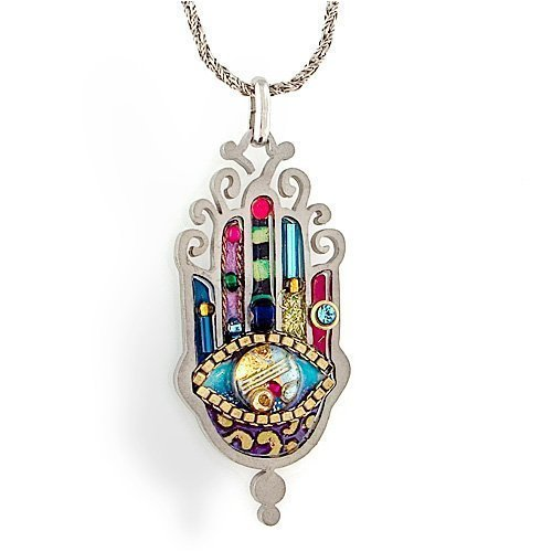 Large Protect from the Evil Eye Elegant Hamsa Necklace