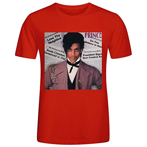 Controversy Prince Personalized Men Tshirts Red (Shane Co Rings compare prices)