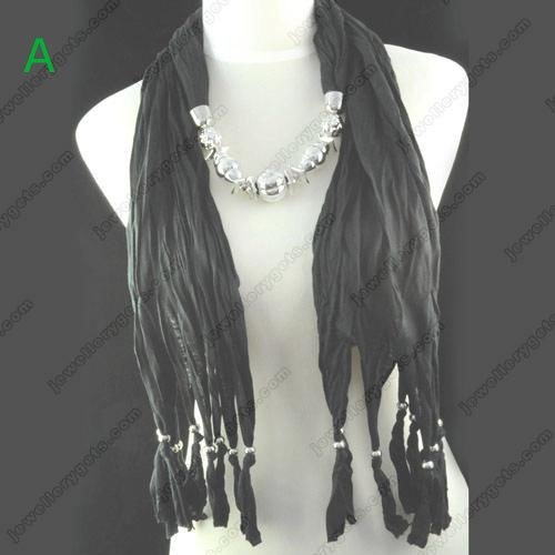 CCB beads jewellery scarf necklace new design