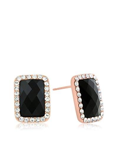 Passiana Black Swarovski Elements Stud Earrings