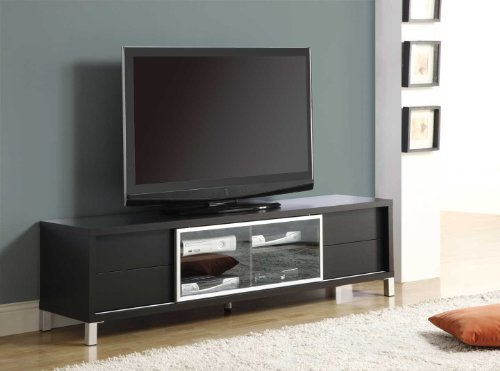 Monarch Specialties Cappuccino Hollow Core 70-Inch Euro TV Console