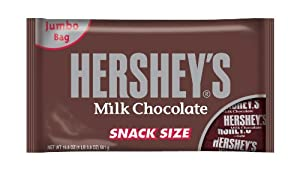 Hershey's Snack Size Bars, Milk Chocolate, 19.8-Ounce Bags (Pack of 3)