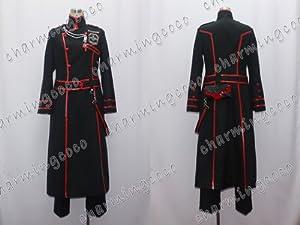D Gray-man Yu Kanda Cosplay Costume Coat Pants Uniform (Female S)