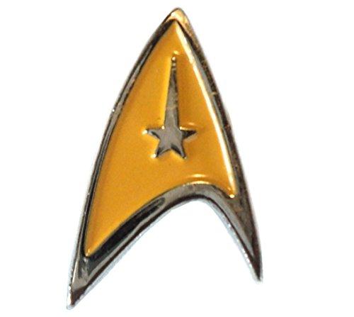 STAR TREK Starfleet Insignia giallo logo DELTA Shield smalto Badge 20mm