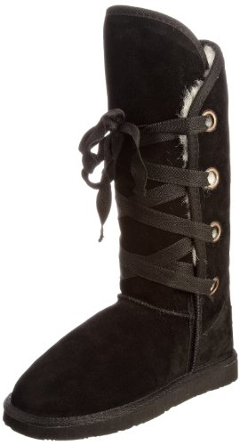 Ukala Women's Riley Black Knee High Boots Ukw80016 5 UK