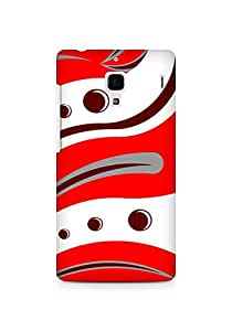 Amez designer printed 3d premium high quality back case cover for Xiaomi Redmi 1S (Red Tiger Pattern)