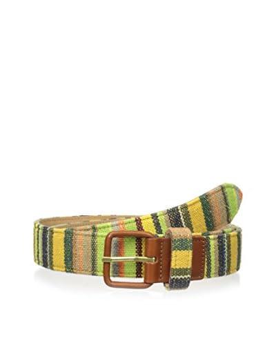 J.McLaughlin Men's Bright Multi Stripe Woven Belt