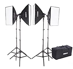 StudioPRO Photography Photo Video Studio Four 5 Socket AC Power Lights With 20\
