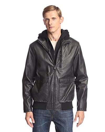 iJeans by Buffalo Men's Zip Front Jacket with Knit Hood