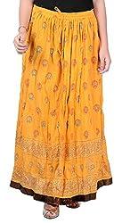 Nisba Fashions Women's Skirt (LS1_Yellow_Large)