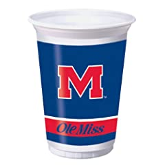 Buy Creative Converting University of Mississippi Rebels Printed 20 Oz. Plastic Cups (8 Count) by Creative Converting