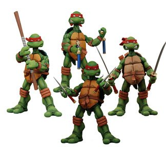 Picture of NECA Teenage Mutant Ninja Turtles: Action Figures Box Set of 4 (B0013A7L6C) (TNMT Action Figures)