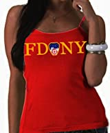 LADIES JUNIOR FIT FDNY TANK TOP (RED)