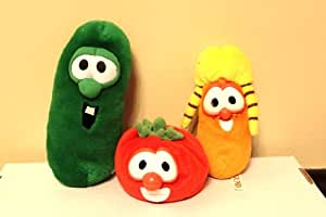 Amazon.com: Veggie Tales Stuffed Character Toys includes ... Veggie Tales Larry The Cucumber And Bob The Tomato