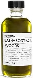 FIG+YARROW Organic Bath + Body Oil Woods 4 fl oz./ 118 ml