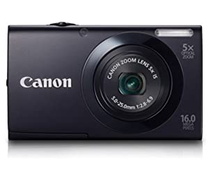 Canon PowerShot A3400 IS Digitalkamera (16 Megapixel, 5-fach opt. Zoom, 7,6 cm (3 Zoll) Touch-Display, bildstabilisiert) schwarz