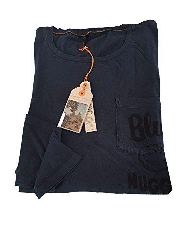 nudie-jeans-t-shirt-uomo-con-taschino-e-stampa-manica-lunga-blu-100-cotone-biologico-xl